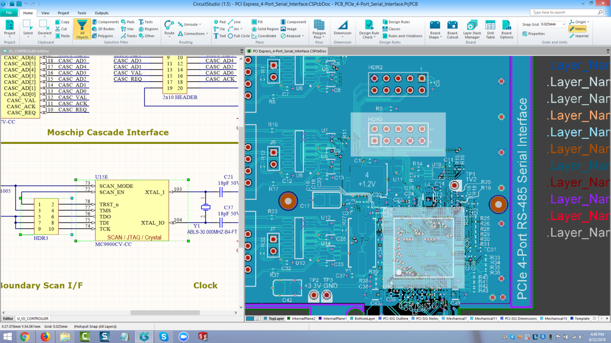 Cross Probe Select Tools Online Documentation For Altium Schematic With Pcb Layout Design Capture Software Free Components Being Selected On The They Are Then Automatically